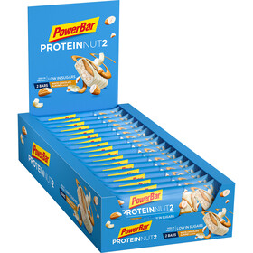 PowerBar Protein Nut 2 Bar Box 18x2x22,5g, White Chocolate Almond